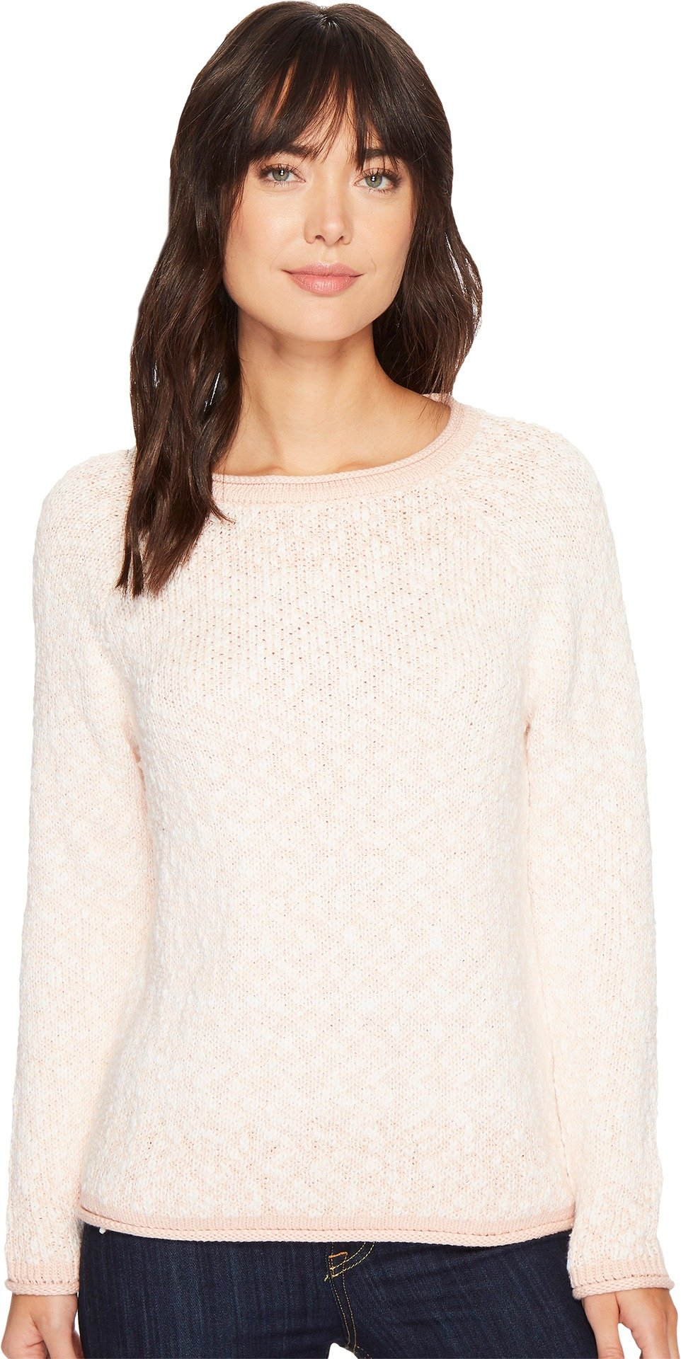 Pendleton Women's Soft Textured Pullover Evening Sand/Marshmallow X-Small