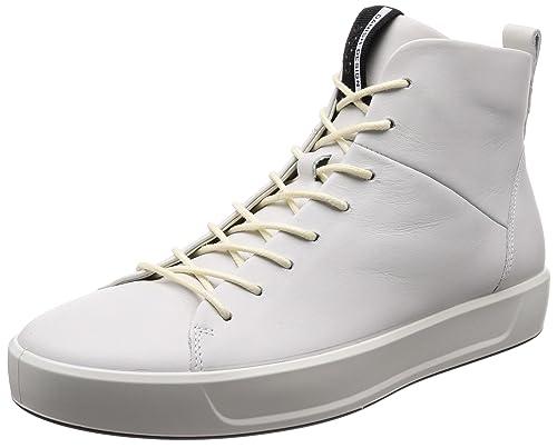 ECCO Soft 8 Men's, Sneaker a Collo Alto Uomo, Bianco (White),