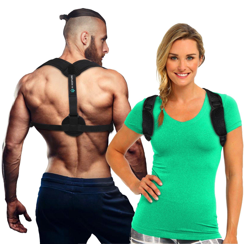 FY Posture Corrector Brace for Women & Men - Provides Upper Back & Shoulder Clavicle Support for Back Straightener Pain Relief - Improves Your Comfort - Front Adjustable Straps