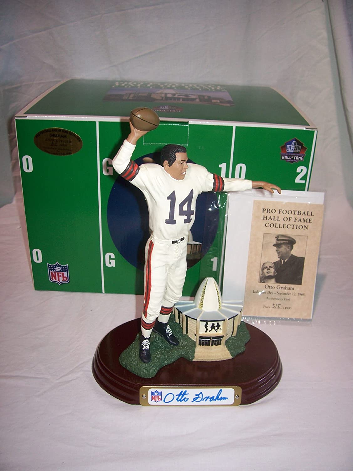 Otto Graham Cleveland Browns Autographed Figurine Costello