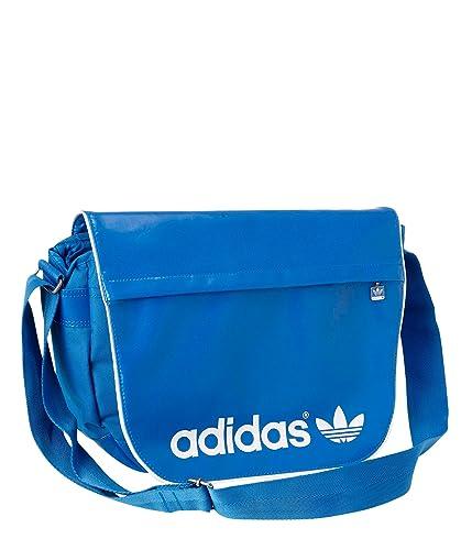 19899eb1d6 adidas , Sac bandoulière Femme - Bleu - Bleu/Blanc, 44x33x8 cm ...