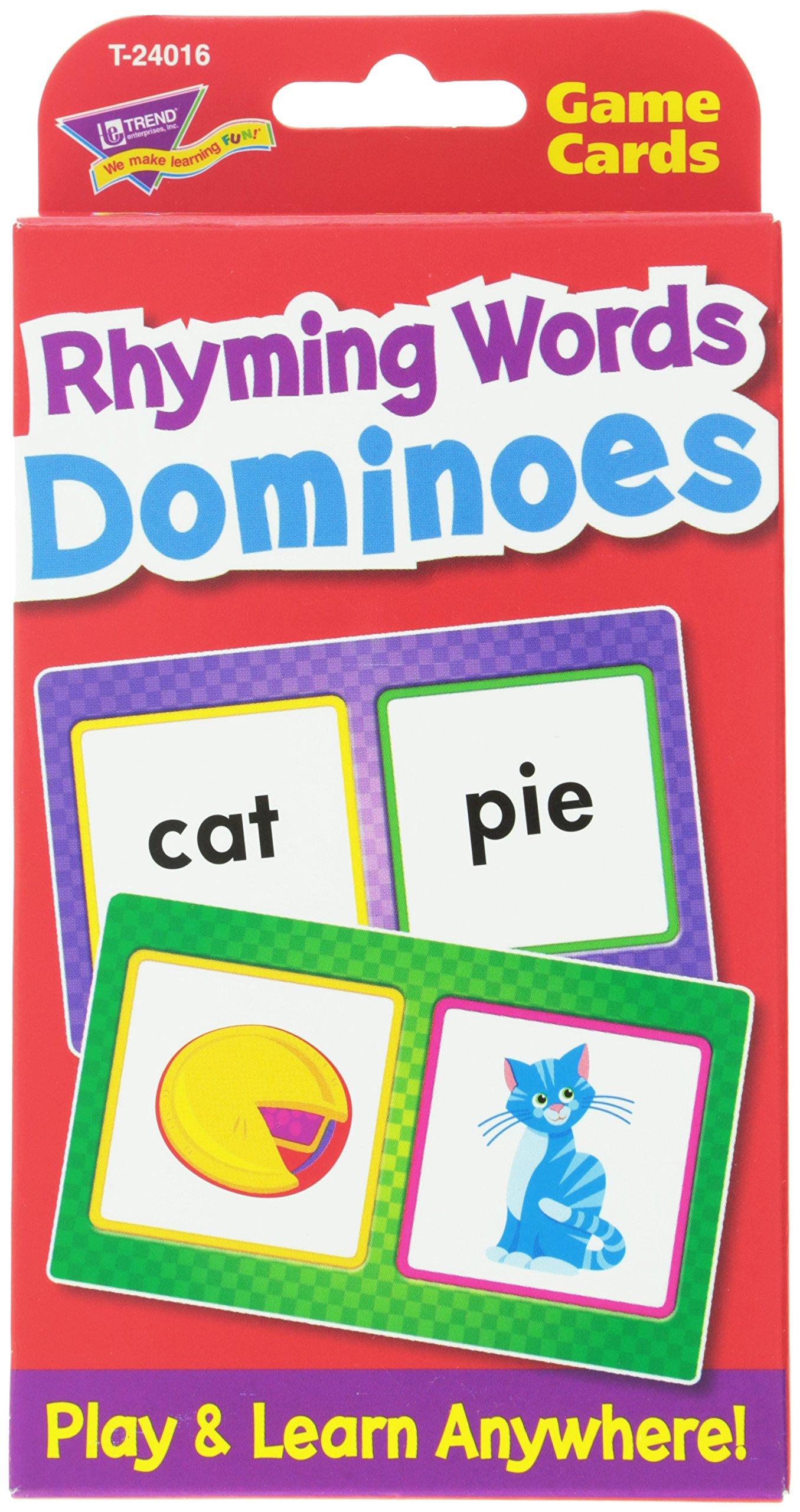 Rhyming Words Dominoes Challenge Cards