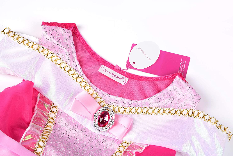 JerrisApparel Girls Princess Aurora Costume Dress Pageants Party Fancy Dress
