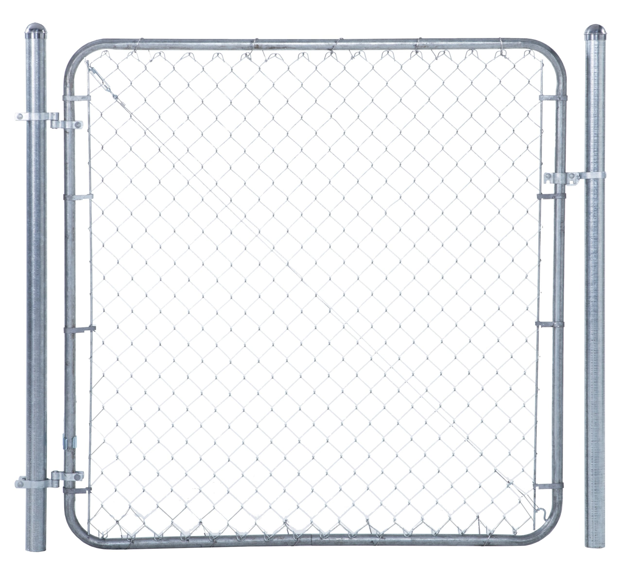 Chain Link Fence Walk-through Gate Kit - Adjust-A-Gate Chain Link Gate Building Kit - This fence gate kit is perfect for replacing existing sagging gates or building new ones. (24''-72'' wide x 4' high)
