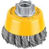 DEWALT DW4910 3-Inch by 5/8-Inch-11 Knotted Cup Brush/Carbon Steel .020-Inch