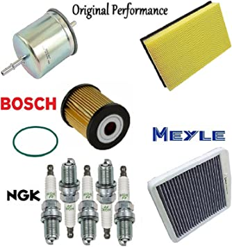 Tune Up Kit Cabin Air Fuel Oil Filters Plugs for Volvo S60 2.4; 2.5T; T5  2004