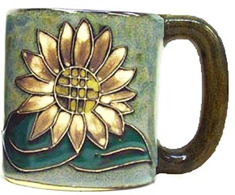 Amazon.com   Mara Stoneware Mug - Sunflower - 16 oz: Coffee Cups & Mugs