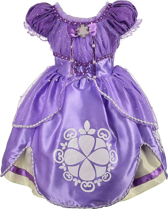 Amazon.com: Dressy Daisy Vestido de princesa Sofía, vestido ...