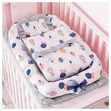 Model Of Demon Eight Baby Crib Mattress Soft fortable Portable Baby Crib Bed For Co Sleeping Set Photo - Latest portable infant bed HD