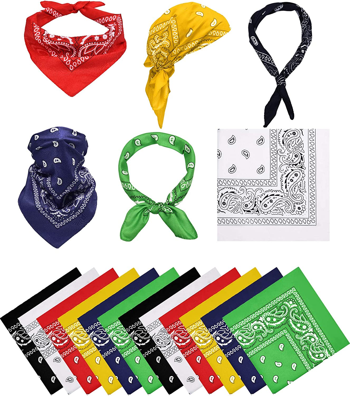 Bandana Paisley Copricapo Multifunzionale Bandana Sciarpa per Uomo Donna 12 Pezzi Set Regalo Bandane Stampata Paisley