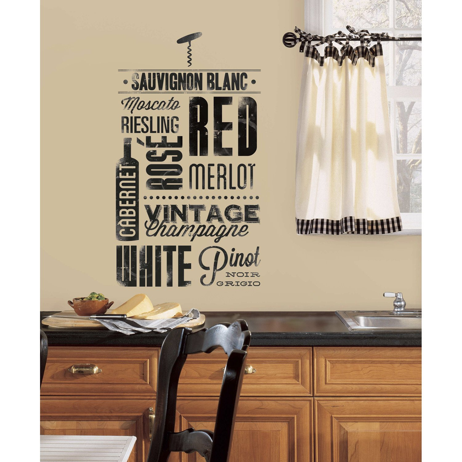 RoomMates RMK2649SCS Wine Lovers Peel And Stick Wall Decals     Amazon.com