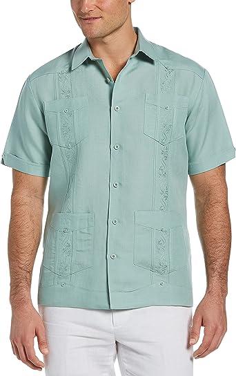 Cubavera camiseta Guayabera bordada para hombres
