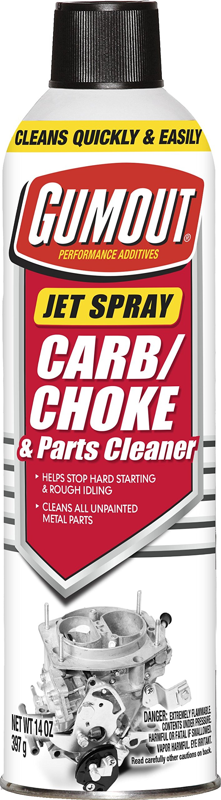 Gumout 800002231-6PK  Carb and Choke Cleaner, 14 oz. (Pack of 6)