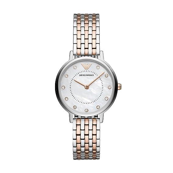Emporio Armani Reloj Analogico para Mujer de Cuarzo con Correa en Acero Inoxidable AR11094: Amazon.es: Relojes