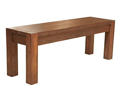 Modus Furniture 3F4191 Meadow Solid Wood Bench, Brick Brown
