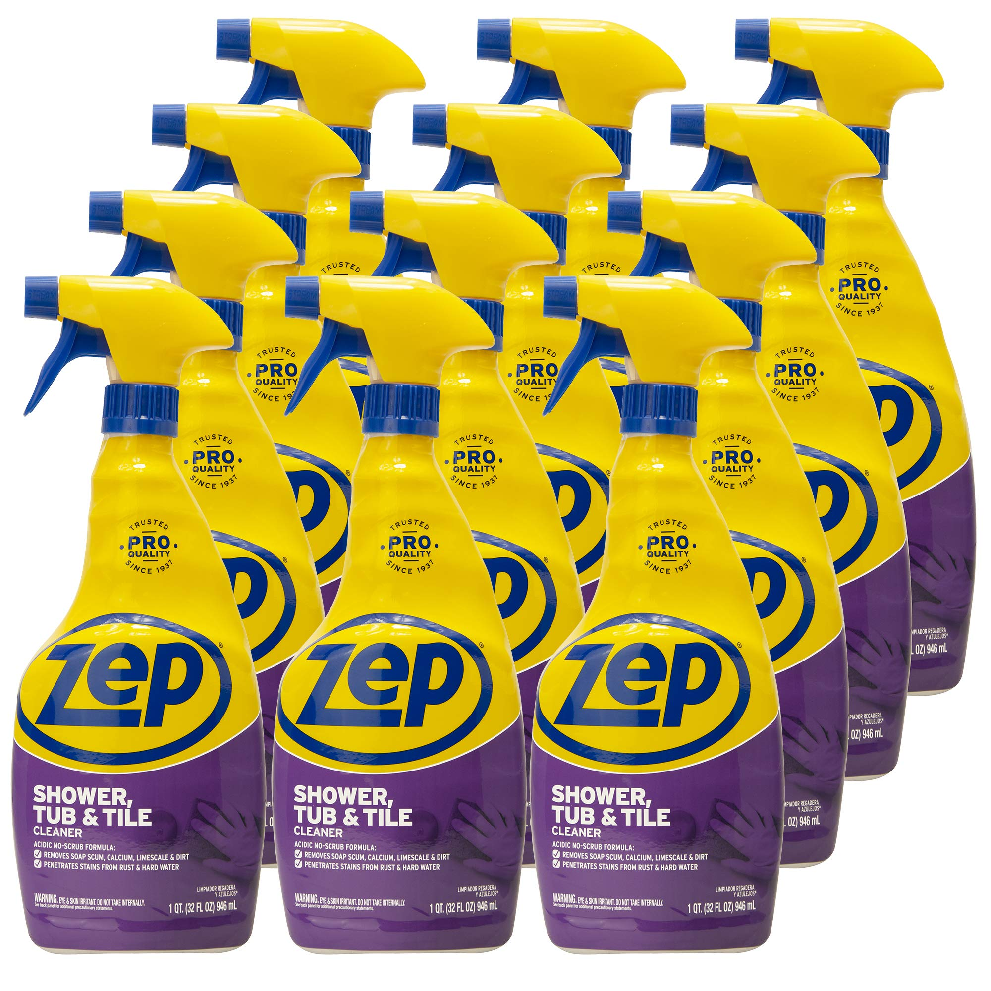 Zep Shower Tub and Tile Cleaner 32 ounce ZUSTT32PF (Cases of 12)