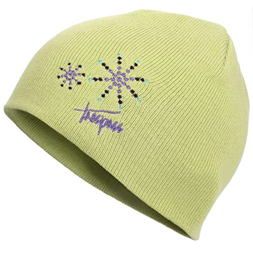 665f1c7af20 Trespass Childrens Girls Sparkle Knitted Beanie Hat (5 7 Years) (Pear)