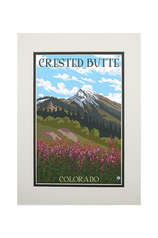 【特価】 Crested Butte、コロラド – ヤナギランと山 Canvas Print Tote Bag Art LANT-76288-TT Canvas B06XZY11NW 11 x 14 Matted Art Print 11 x 14 Matted Art Print, アルテミスクラシック公式ショップ:ff2572a2 --- mail.mrplusfm.net