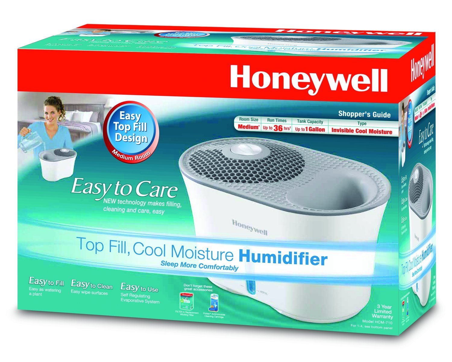 Honeywell Easy to Care Cool Mist Humidifier HCM-710