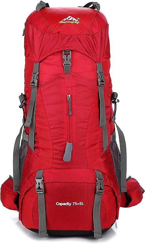 Skytower 75L Senderismo Mochila Mochilas para Excursionismo al Aire Libre Viajes Escalada Camping Bolsa montañismo Impermeable en la Cima de la ...