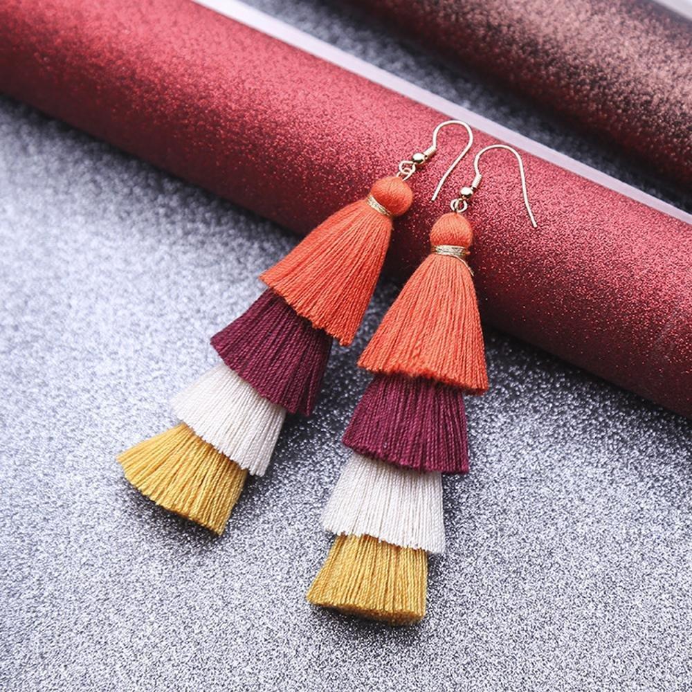 Weiwei Men's Earrings Men's Ear Nails Ear Circulation su Handmade National Wind Personality Earring Length About 10.5cm