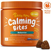 Zesty Paws Calming Bites for Dogs - Anxiety Composure Relief with Suntheanine - for Dog…