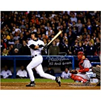 """$83 » Aaron Boone Yankees Autographed 8"""" x 10"""" Hitting Photograph with""""03 ALCS GW HR"""" Inscription…"""
