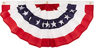 product image for Annin Flagmakers 18 by 36-Inch pleated Fan Bunting Decoration Flag, Small