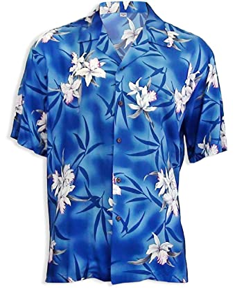 805db5cf6 Two Palms Men's Midnight Orchid Rayon Shirt at Amazon Men's Clothing ...