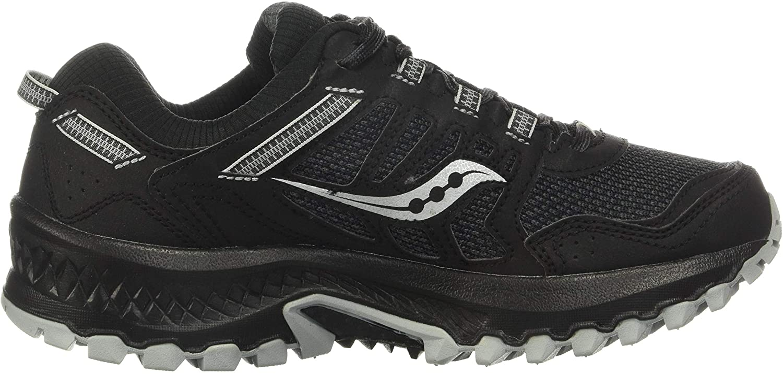 Saucony Womens Excursion TR13 Versafoam Black Grey Trail Running Shoes S10524-1