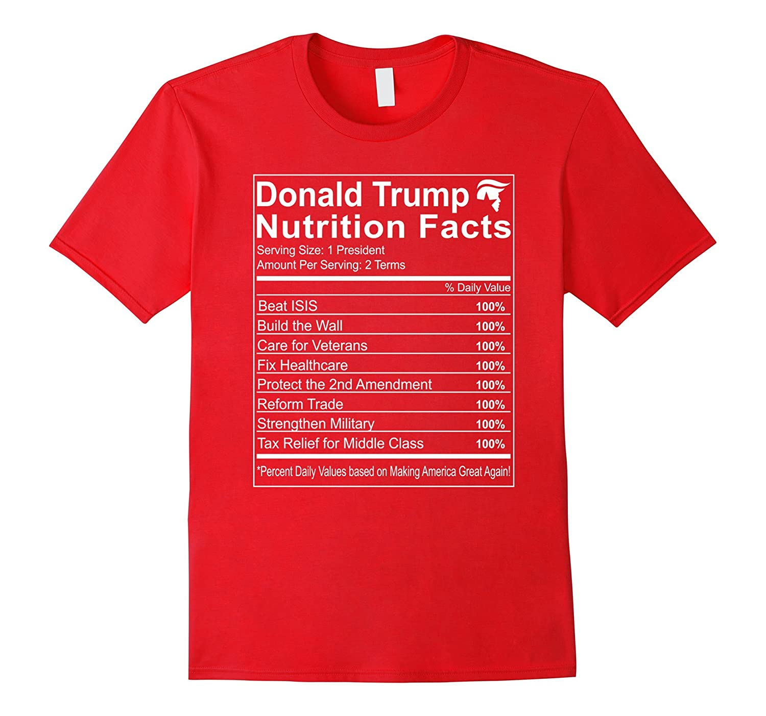603a4ee76 Donald Trump Nutrition Facts Make America Great Shirt-CD – Canditee