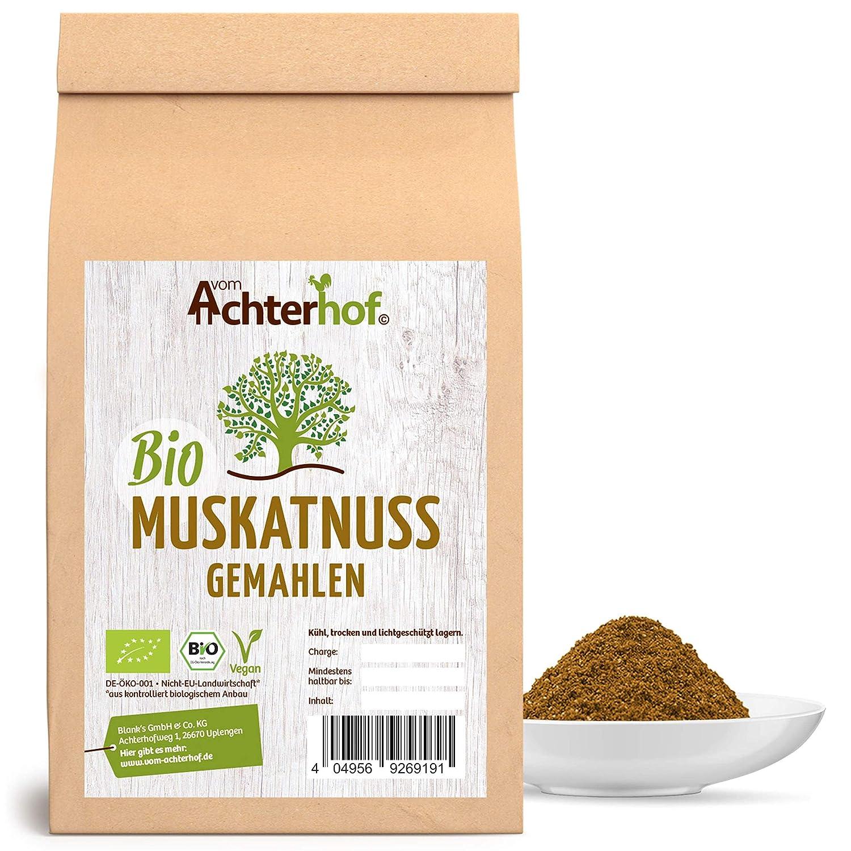 Bio Muskatnusse Gemahlen 100g Premium Qualitat Vom Achterhof Muskat Muskatnuss Pulver Amazon De Lebensmittel Getranke