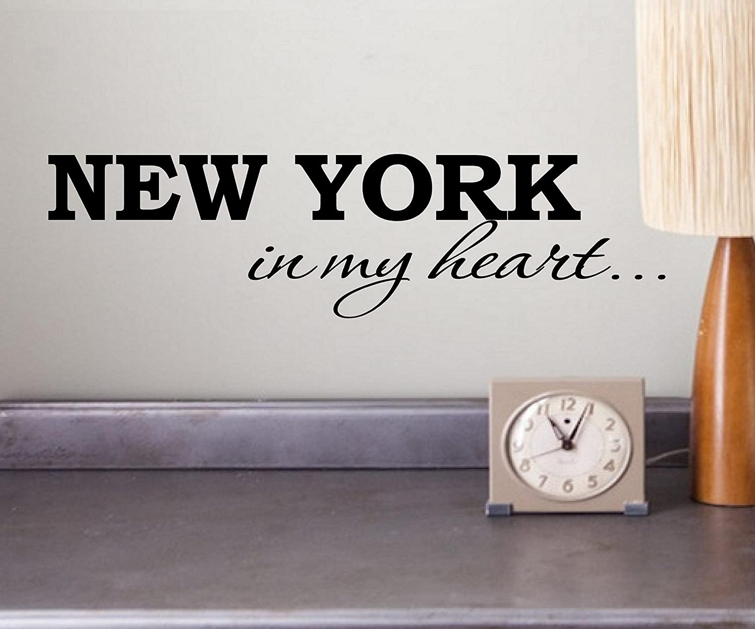 New York In My Heart Vinyl Wall Art Inspirational Quotes And Saying Home  Decor Decal Sticker   New York Bedroom Decor   Amazon.com