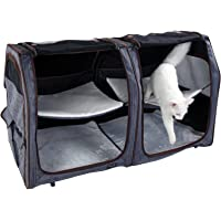 Petsfit Cat Show House for 2 Cats with Hammock and Fleece Mat