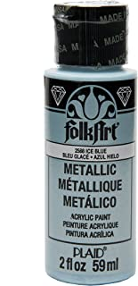 product image for FolkArt Metallic Acrylic Paint in Assorted Colors (2 oz), 2588, Metalic Ice Blue