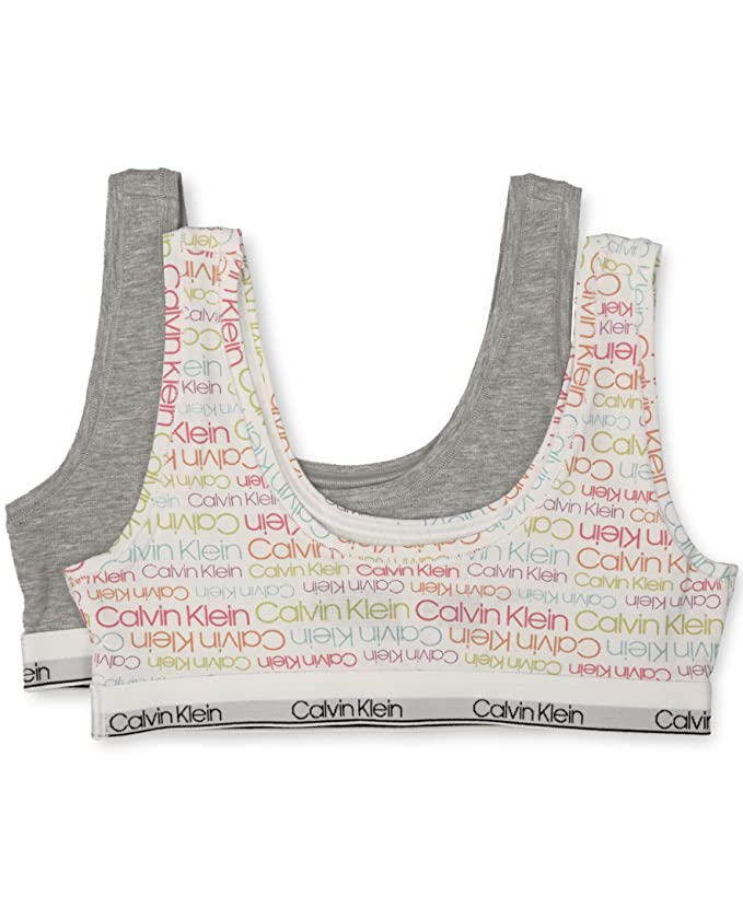 f1da9b12c8e6eb Amazon.com  Calvin Klein Girls  Kids Modern Cotton Unlined Bralette   Clothing