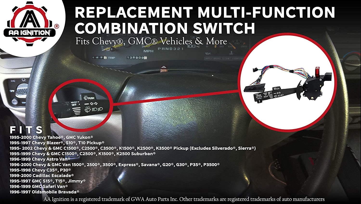 Amazon com: Multi-Function Combination Switch - Turn Signal