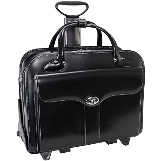 0997163842f2 McKlein USA Berkeley 15 quot  Leather Rolling Laptop Tote EXCLUSIVE (Black)