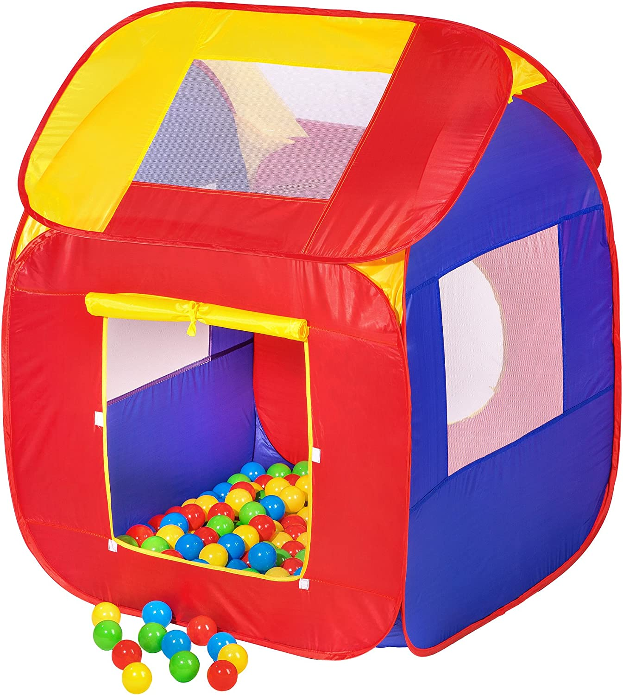 200 balles sac Tente cubique pour enfants avec tunnel Tente de jeu