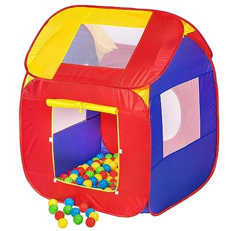 c79fd03749e34d TecTake Tenda Giochi per Bambini | Pop Up Tenda da Gioco con Palline per  Bambino
