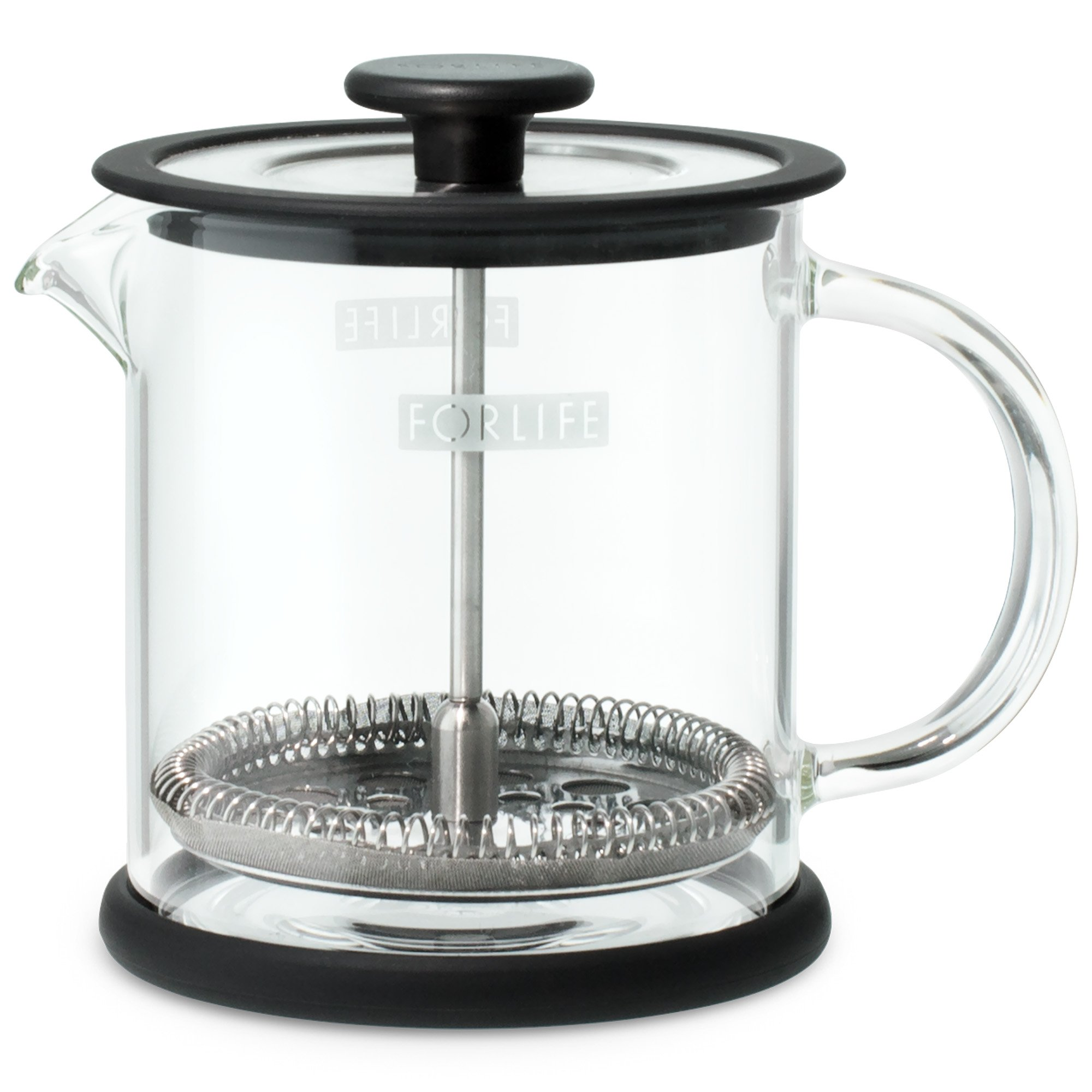 FORLIFE Cafe Style Glass Coffee/Tea Press, 16-Ounce, Black by FORLIFE (Image #2)