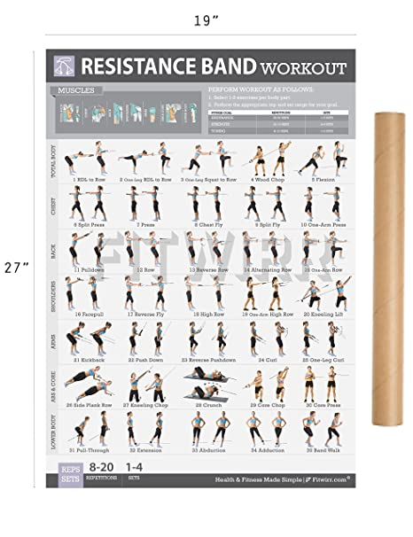 photo regarding Printable Resistance Bands Exercises named : Resistance Band/Tube Fitness Poster At the moment