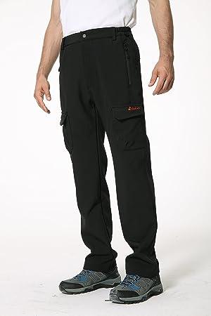 Clothin Men s Fleece-Lined Soft-Shell Cargo Pants - Insulated 9c66f7146