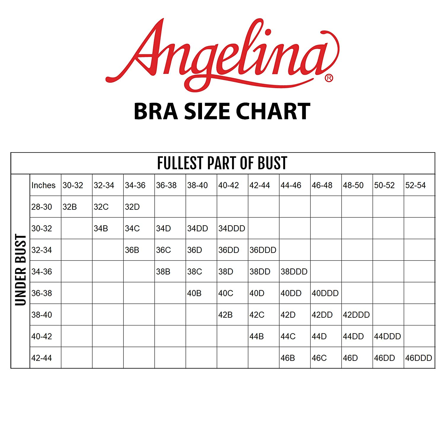 Angelina Full Support Back-Smoothing Convertible T-Shirt Bras 6-Pack