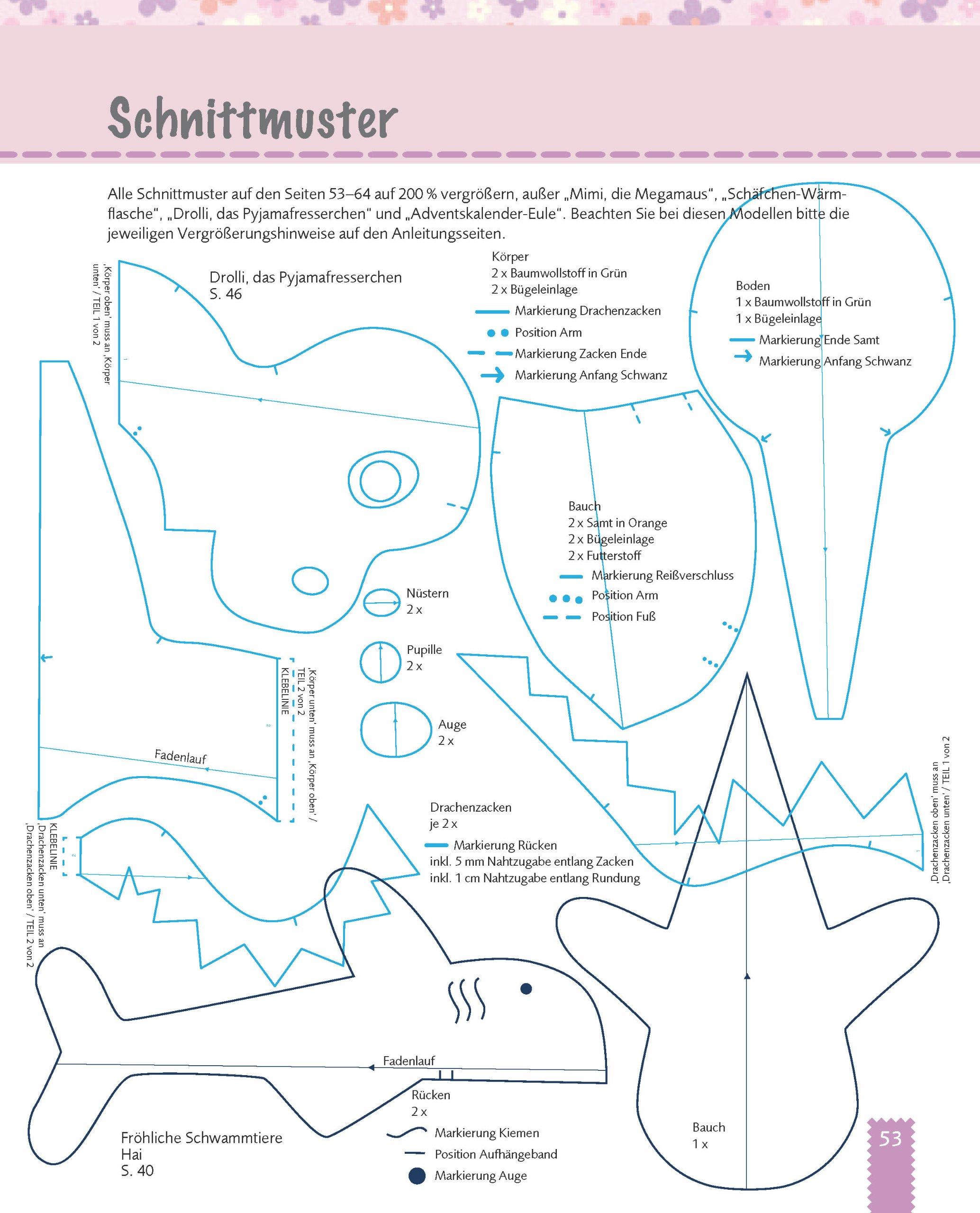 Awesome Drachen Schnittmuster Gift - Decke Stricken Muster ...