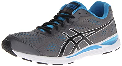 ASICS Men's Gel Storm 2 Running Shoe,Granite/Black/Malibu,7.5 M