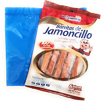 Mexican Barritas de Jamoncillo (Milk Candy) 4.23oz (Pack of 3) and