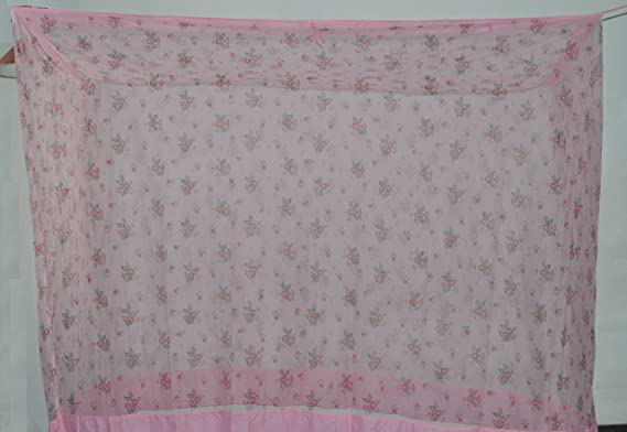 Fashion Centre Polyster Printed Mosquito net 7*6.5ft, Pink