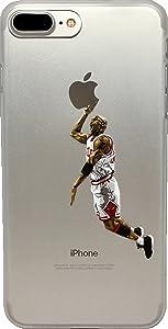 ECHC Favorite Basketball Player Hard Plastic iPhone Case (Jordan White, iPhone 7 and 8)