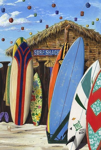 DIYCCY Surf Shack - Bandera Decorativa de Verano para Tabla de Playa, Jardín, 30